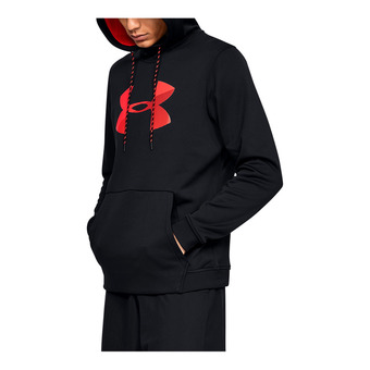 Under Armour AF PO BIG LOGO GRAPHIC - Sudadera hombre black/red