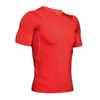 UA HG Rush Compression SS-RED Homme Martian Red1327644-646