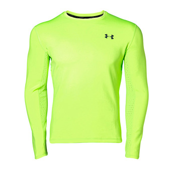 Under Armour QUALIFIER COLDGEAR - Maillot Homme lime light