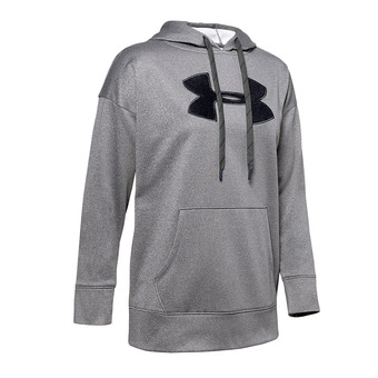 Under Armour SYNTHETIC FLEECE CHENILLE LOGO PO - Sweat Femme jet gray light heather