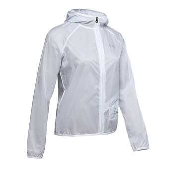 Under Armour QUALIFIER STORM GRAPHIC RUN - Veste Femme halo gray