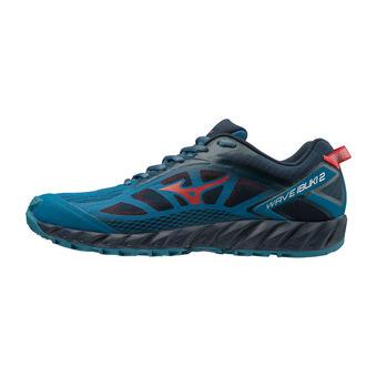 Mizuno WAVE IBUKI 2 - Chaussures trail Homme bsapphire/tomato/dblues