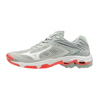 Mizuno WAVE LIGHTNING Z5 - Chaussures volley Femme glaciergray/wht/fierycor