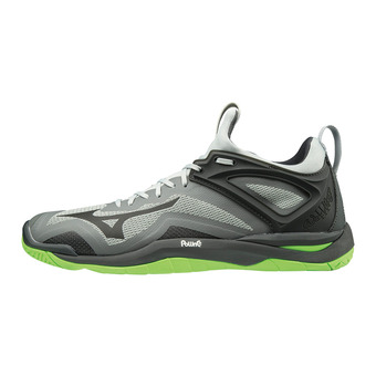 Mizuno WAVE MIRAGE 3 - Chaussures handball highrise/blk/greengecko