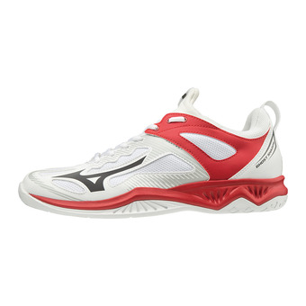 Mizuno GHOST SHADOW - Chaussures handball wht/blk/red186c