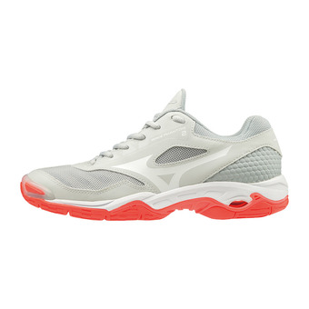 Mizuno WAVE PHANTOM 2 - Chaussures handball Femme glaciergray/wht/fierycor