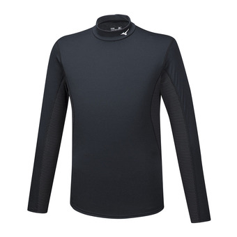 Mizuno MID WEIGHT HIGH NECK - Camiseta térmica hombre black