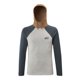 Millet RED WALL LIGHT HOODIE - Camiseta hombre heather grey/orion blue