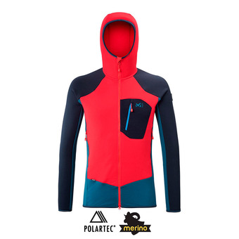 Millet TRILOGY DUAL WOOL HOODIE - Polar hombre indian/red