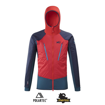 Millet TRILOGY HYBRID ALPHA - Chaqueta hombre indian/red