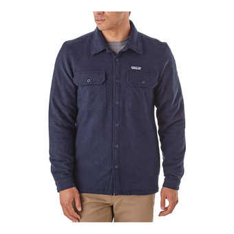 Patagonia INSULATED FJORD FLANNEL - Shirt - Men's - navy blue
