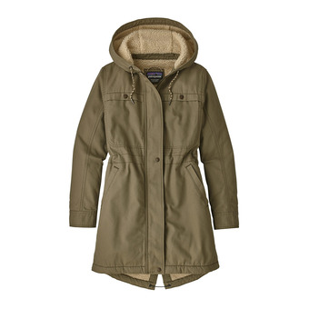 Patagonia INSULATED PRAIRIE DAWN - Parka Jacket - Women's - sage khaki