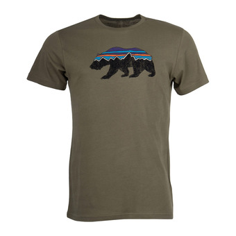 M's Fitz Roy Bear Organic T-Shirt Homme Sage Khaki