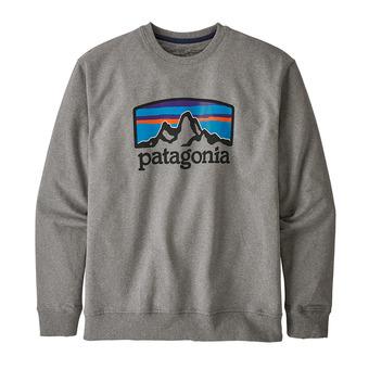 Patagonia FITZ ROY HORIZONS UPRISAL CREW - Sudadera hombre gravel heather