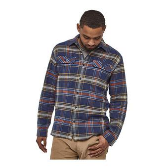 M's L/S Fjord Flannel Shirt Homme Defender: New Navy
