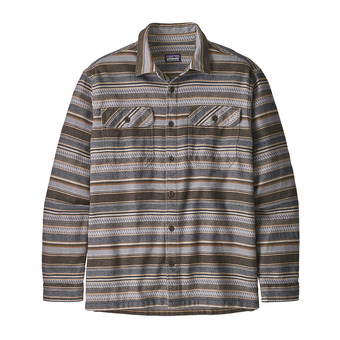 Patagonia FJORD FLANNEL - Shirt - Men's - folk dobby/bristle brown