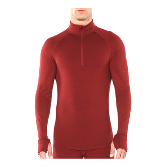 Icebreaker 260 ZONE - Camiseta térmica hombre cabernet/chili red