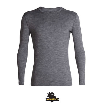 Icebreaker 200 OASIS - Sous-couche Homme gritstone hthr