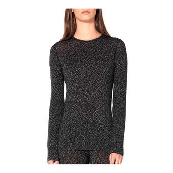 Icebreaker 200 OASIS - Camiseta térmica mujer sky paths/black