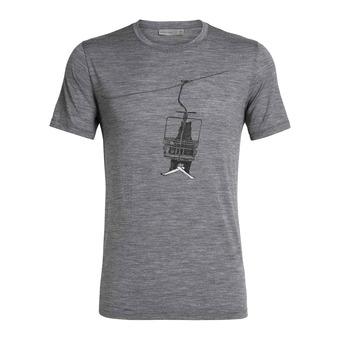 Icebreaker TECH LITE - T-Shirt - Men's - bear lift/gritstone hthr