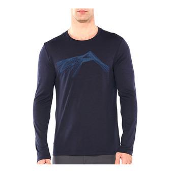Icebreaker TECH LITE - Tee-shirt Homme shear/midnight navy