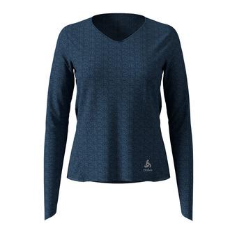 Odlo LOU LINENCOOL - Camiseta mujer blue wing teal melange