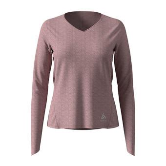Odlo LOU LINENCOOL - Tee-shirt Femme woodrose melange