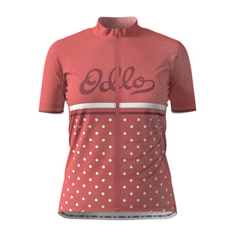 Maillot MC zip integral ELEMENT PRINT Femme faded rose - retro