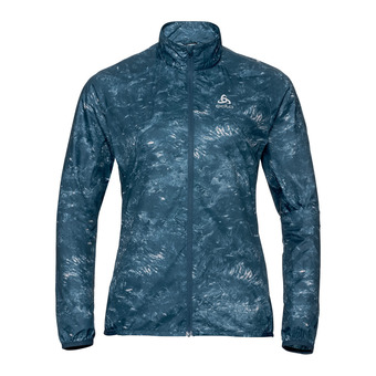 Odlo ZEROWEIGHT - Chaqueta mujer blue wing teal/aop