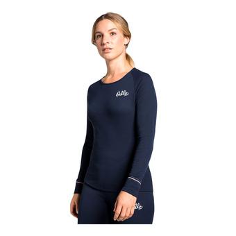 Odlo ACTIVE WARM - Sous-couche Femme diving navy