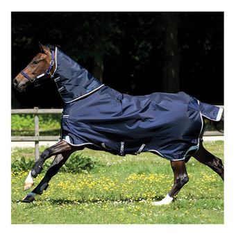 Horseware RAMBO DUO - Coperta da paddock 400g 2 in 1 navy/sky blue/brown