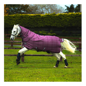 Rhino Plus Turnout Med VL Unisexe Berry/Grey/White Chk & Berry