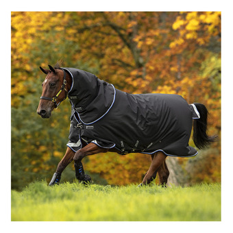 Horseware AMIGO BRAVO 12 PLUS - Manta de paddock 250g black/str blue/black