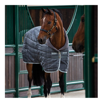 Horseware RHINO ORIGINAL STABLE - Coperta da box 250g char/gray/white check/char