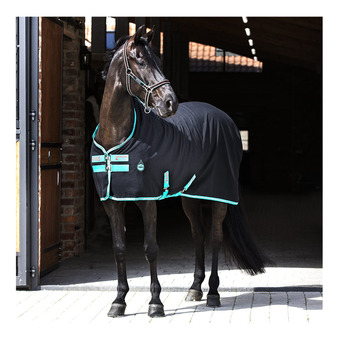 Horseware AMIGO STABLE SHEET - Manta de cuadra black/teal/dark cherry