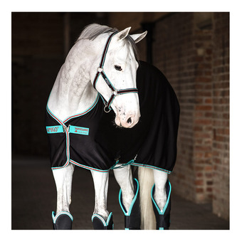 Horseware AMIGO JERSEY - Manta de secado black/teal/dark cherry