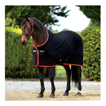 Horseware RAMBO SOFTY FLEECE - Chemise polaire black/gold/red