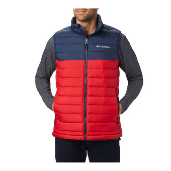 M Powder Lite Vest-Mountain Red, C Homme Mountain Red, Collegiate Navy