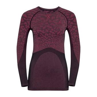 Odlo BLACKCOMB - Camiseta térmica mujer black/cerise