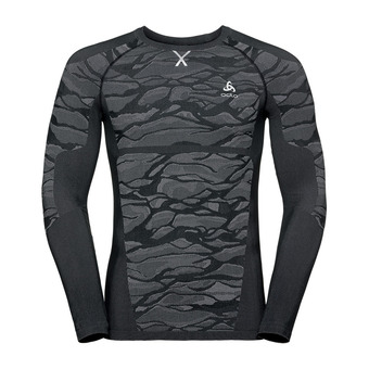 Odlo BLACKCOMB - Camiseta térmica hombre black/odlo steel grey/silver