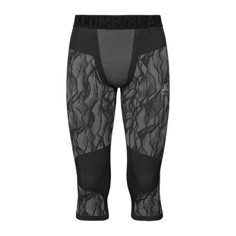 Odlo BLACKCOMB - Corsaire Homme black/odlo steel grey/silver