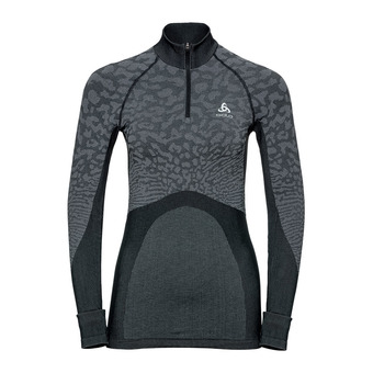 Odlo BLACKCOMB - Maglia termica Donna black/odlo steel grey/silver