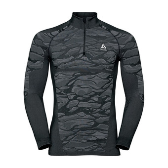 Odlo BLACKCOMB - Sous-couche Homme black/odlo steel grey/silver