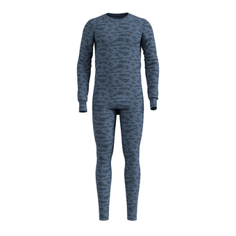 Odlo X-MAS ACTIVE WARM - Sous-couche + collant Homme bering sea