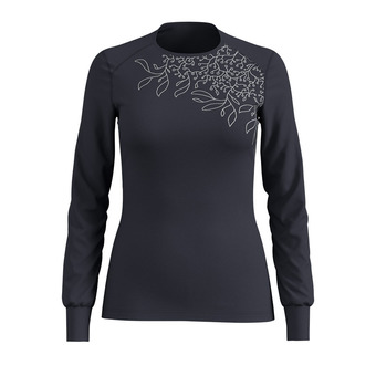 Odlo WARM PRINT - Sous-couche Femme india ink