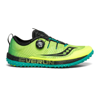 Saucony SWITCHBACK ISO - Chaussures trail Homme citron/black