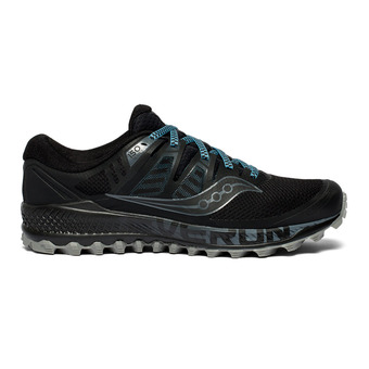Saucony PEREGRINE ISO - Trail Shoes - Men's - black/grey