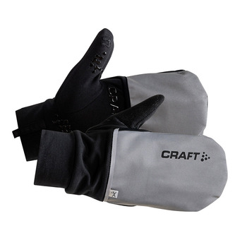Craft HYBRID WEATHER - Guanti 2 in 1 silver/black