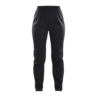 Craft WARM TRAIN - Pantaloni Donna black/grey/tran