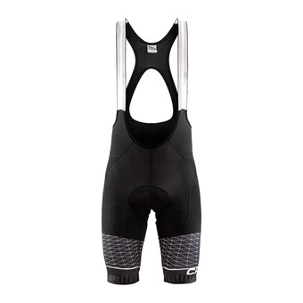 Craft ROUTE THERMAL - Mallas cortas con tirantes hombre black